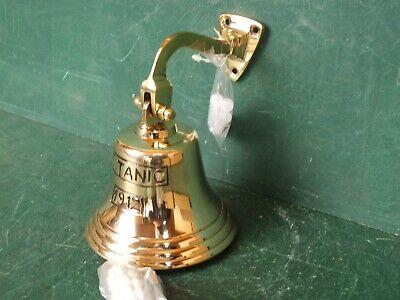 Schiffsglocke Messing Poliert nostalgische Glocke Türglocke Wandglocke Titanic