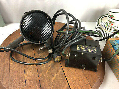 Vintage Magnaflux Blacklight Inspection Light Westinghouse Mercury Bulb H44-4gs
