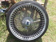 Knock off chrome wire wheels and tyres Bell Dalby Area Preview