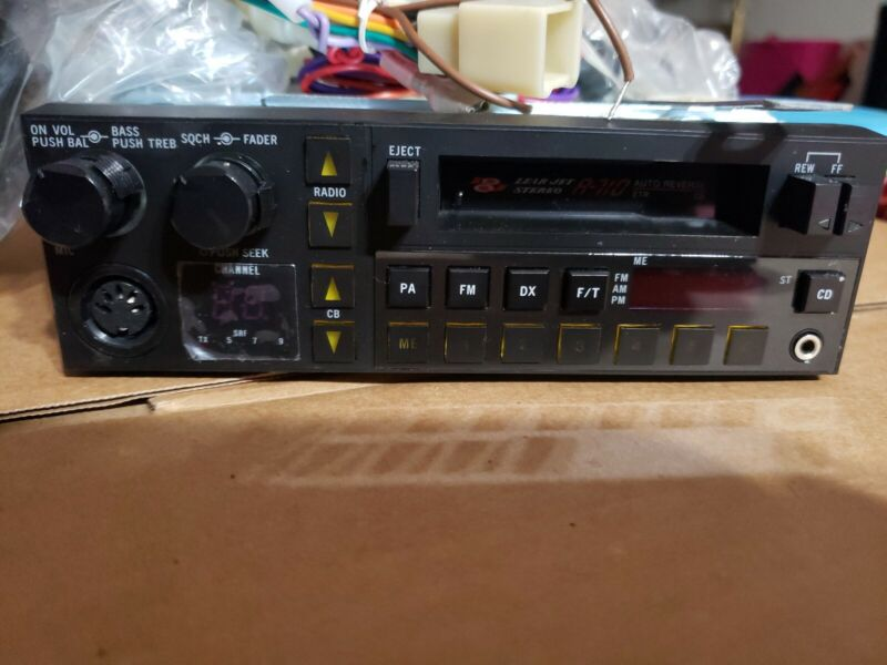 Vintage Lear Jet Stereo A-710 Automobile cassette / CB Player NEVER INSTALLED