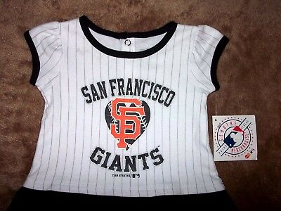 New San Francisco Giants MLB Baseball Dress Jersey Shirt Girls Toddler 18M NWT - Baseball Jersey Dress