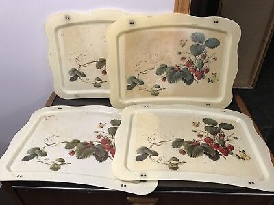 Vintage TV Dinner Trays Lot of 4 Quaker Industries - 4 Trays Only 3 Metal Stands](Tv Trays Big Lots)