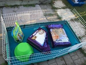 Small animal's cage + play pen +supplies