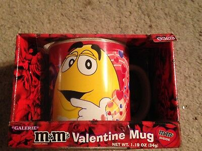 Used, M&M Brand Valentine Themed Ceramic Coffee Mug - NEW in original BOX - 2007 for sale  Dallas