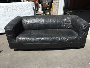 Leather couch from IKEA