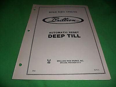 Drawer 16 Brillion Automatic Reset Deep Till Repair Parts Catalog