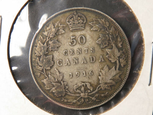1916 Canada Fifty Cents:  VG - F