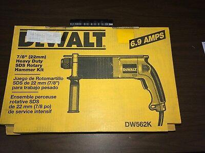 Dewalt Dw562k 78 22mm Sds Rotary Hammer Drill New