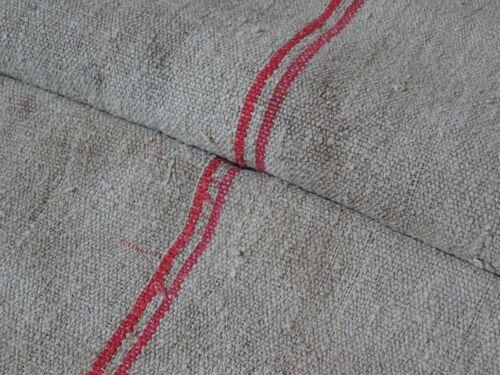 Antique European Feed Sack GRAIN SACK Red Stripe # 8968