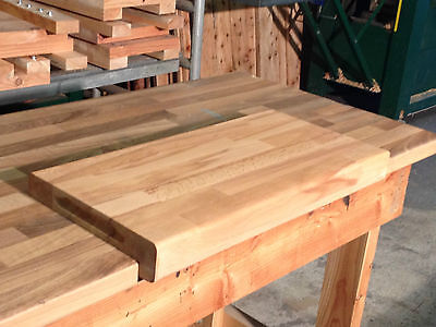 Large Wooden Beech Chopping Board  - Real wood With Counter Edge