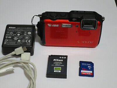 NIKON Coolpix AW120 Waterproof Digital Camera WiFi GPS 32GB Excellent Condition!