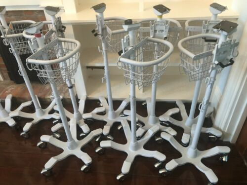 -LOT of 8- Welch Allyn Mobile Roll Stand 4700 Series 420 Spot, LXi, 300, 53NT0