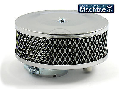 Classic VW Beetle Chrome Pancake Round Foam Air Filter for Solex Carb Bug Camper