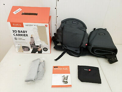 MiaMily Hipster Plus 3D Hip Seat Ergonomic Baby Carrier Charcoal Grey  for sale  Shipping to South Africa