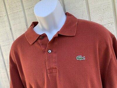 Lacoste Mens Short Sleeve Devanlay Pique Polo - Size 8 XXL 2XL 3XL - Red