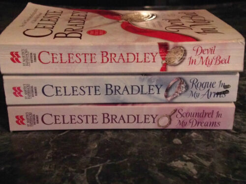 Celeste Bradley lot of 3 Runaway Brides Series Historical Romance Paperbacks
