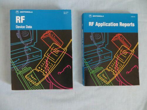 1995 Vintage Motorola RF Device Data & Application Reports Books - Lot of 2