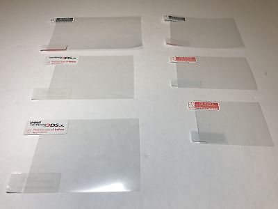 Lot of 5 Numerous Nintendo DS 3DS XL DSi Screen Protectors