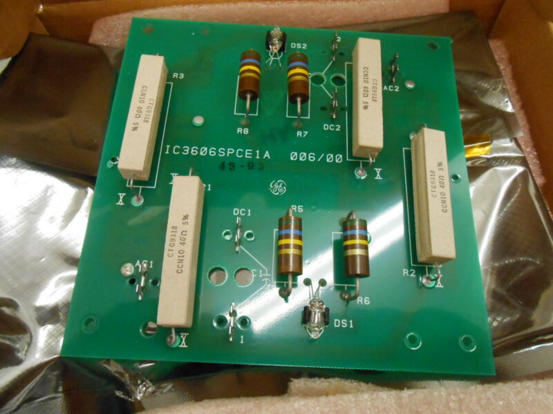 GE GENERAL ELECTRIC IC3606SPCE1A SNUBBER CARD PCB CIRCUIT BOARD