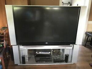 "62"" Rear Projection TV and Stand - Has HDMI Input"