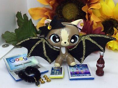 Littlest Pet Shop Custom Bat Wings (gold) & Accessories LPS PET NOT INCLUDED (Pet Bats)