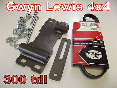 Defender Discovery 300 tdi Twin Alternator Mount DIY Second Alternator WARN 8274