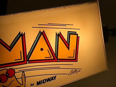 MIDWAY PAC-MAN ARCADE CABARET MARQUEE, UNUSED, 1980