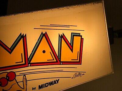 MIDWAY PAC-MAN ARCADE CABARET MARQUEE, UNUSED, 1980