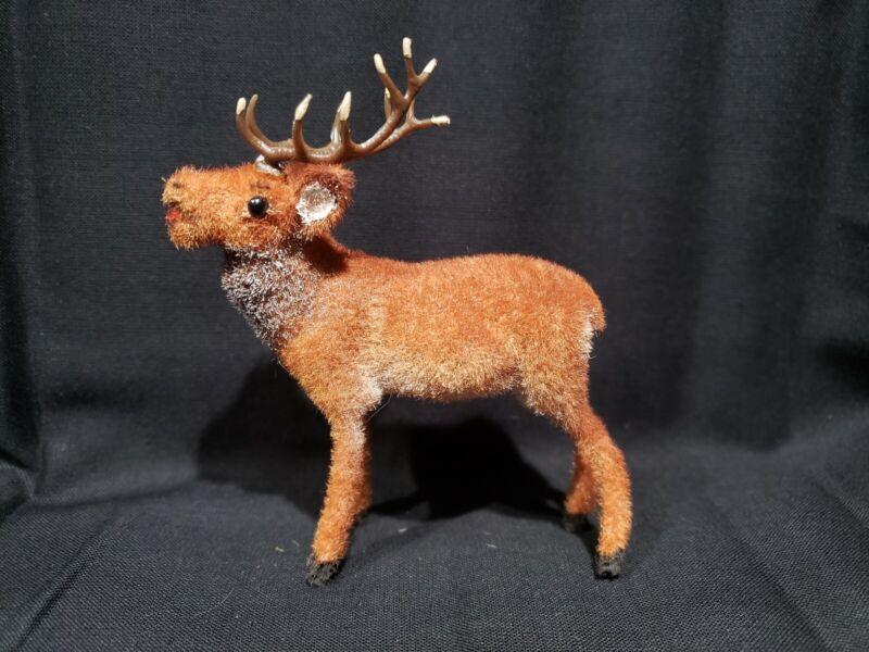 Kunstlerschutz Wagner Reindeer Buck Stag Vtg 1966-83 Flocked Animal Figure Putz
