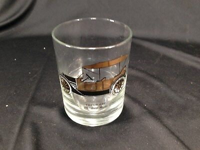 Vintage Chevrolet 1913 First Model Old Fashioned Rocks Glass