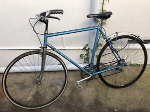 Retro steel frame bicycle