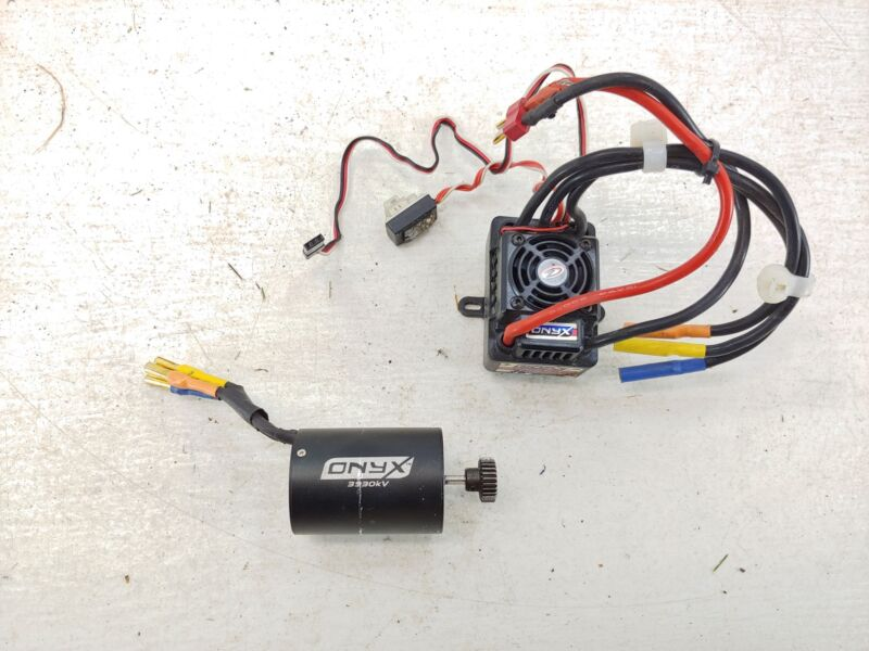 Duratrax Onyx 80a 2-3s Lipo Brushless ESC w/ 3930kv Motor Combo Used