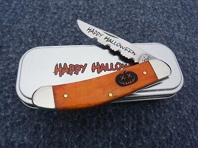 CASE XX *g 2013 HALLOWEEN PERSIMMON ORANGE PUMPKIN CARVER SOWBELLY KNIFE KNIVES
