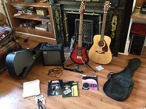 Acoustic/Electric guitar + amp & accessories
