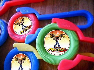 12ct~ NERF GUN WAR THEMED disk shooters birthday party favor, treat bags, prize