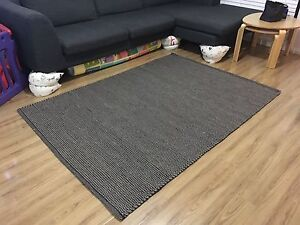 Wool Rug - black / grey Windsor Hawkesbury Area Preview