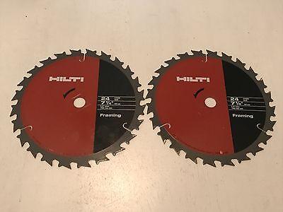 Two 2 New Hilti W-csc 7-14 Diameter 58 Arbor Framing Blade Ultra Thin Kerf