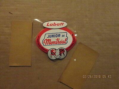Montreal de Junior Sposored By Labatt Team Logo Hockey Window Sticker