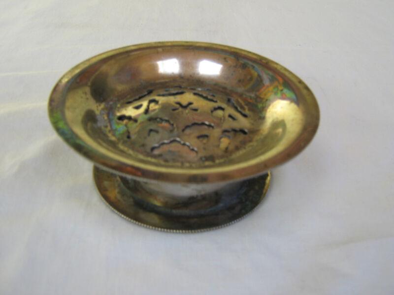 Antique Plate Silver Butter Curler
