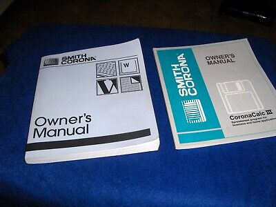 Vintage Smith Corona Electronic Typewriter Owners Manuals 798374 798316