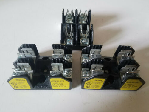 Lot of (3) Bussmann Fuse Blocks, Class H, 2 Fuse Holders, H25030-2PR
