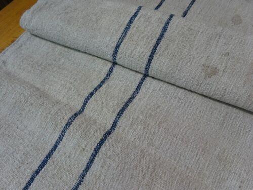 Antique European Feed Sack GRAIN SACK Blue Stripe # 9148