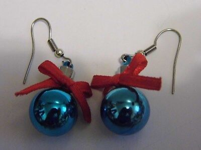 VTG Holiday Christmas Ornament Pair Pierced Earrings Costume Fashion Jewelry](Christmas Ornament Costume)
