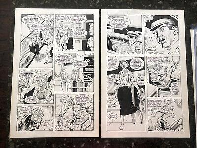 Femforce Issue 23 Page 5 & 6 Inked Original Art 1989 AC Comics Rad - Rik Levins