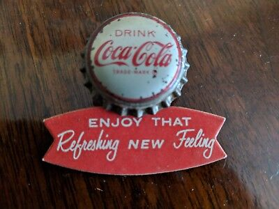 Coca Cola 1960s Bottle Cap Salesman 's Lapel Pin Fishtail