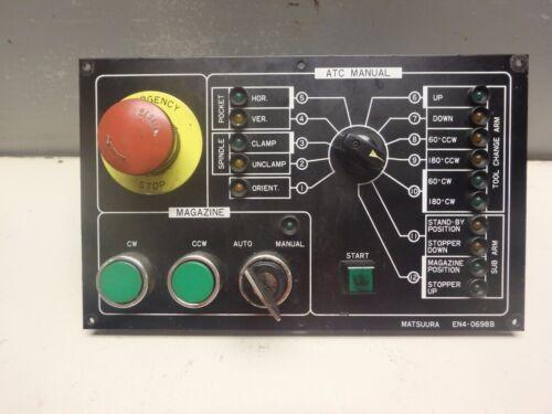 MATSUURA TOOL CHANGER CONTROL PANEL_EN-0698B_85065055