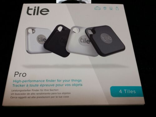 Tile Pro 2020 4-pack - High Performance Bluetooth Tracker, Key Finder & Locater