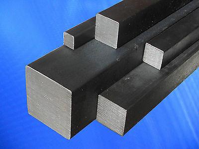 Vierkantstahl - Blankstahl - Vollmaterial- schwarz -Vierkant Stahl -Quadratstahl