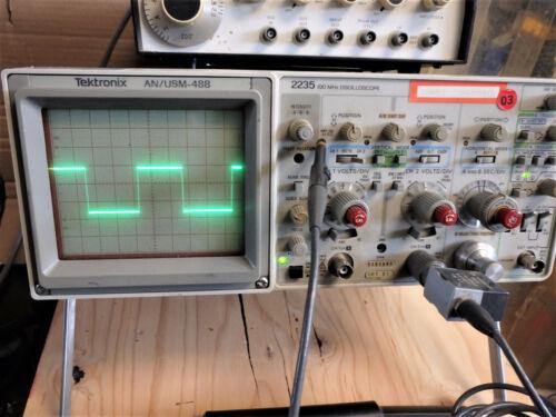TEKTRONICS 2235 100MHz OSCILLOSCOPE AN/USM-488 TESTED