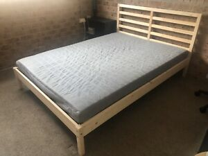 IKEA Double Bed & Mattress (2 months old)
